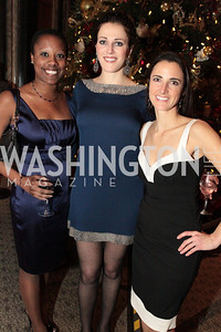 Photo by Alfredo Flores. Naomi Adams, Emily Rffle, Kate Stilwill.  The Smithsonian Young Benefactors 20th Annual Jolly Holiday Party. December 3, 2010.