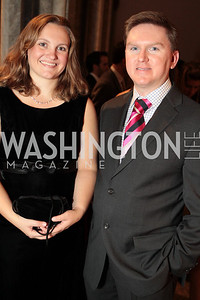 Photo by Alfredo Flores. Chris Byrnes, Lara Householdor . The Smithsonian Young Benefactors 20th Annual Jolly Holiday Party. December 3, 2010.