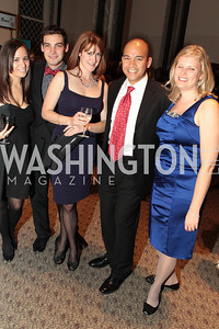 Photo by Alfredo Flores. Natasha Rabinowitz, Michael Berg, Kara Mulholland, Elias Voces, Melissa Bowie. The Smithsonian Young Benefactors 20th Annual Jolly Holiday Party. December 3, 2010.