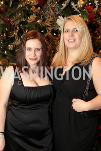 Photo by Alfredo Flores. Kathleen Burke, Angela Marelonis. The Smithsonian Young Benefactors 20th Annual Jolly Holiday Party. December 3, 2010.