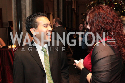 Photo by Alfredo Flores. Michelle Adams, Trung Nguyen. The Smithsonian Young Benefactors 20th Annual Jolly Holiday Party. December 3, 2010. edit