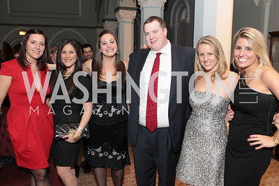 Photo by Alfredo Flores. Amanda Swenson, Stacey Radner, Lola Bigel, Brad Marshall, Kate Slonaker, Lauren Mulrey. The Smithsonian Young Benefactors 20th Annual Jolly Holiday Party. December 3, 2010.