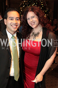 Photo by Alfredo Flores. Michelle Adams, Trung Nguyen-Dinh. The Smithsonian Young Benefactors 20th Annual Jolly Holiday Party. December 3, 2010.