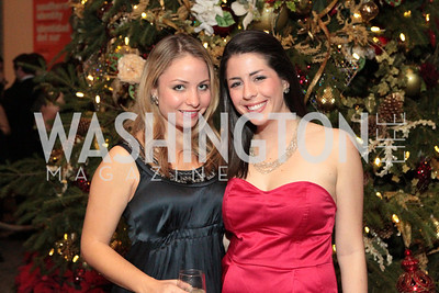 Photo by Alfredo Flores. Rachel Charlesworth, Rachel Skolnick. The Smithsonian Young Benefactors 20th Annual Jolly Holiday Party. December 3, 2010.