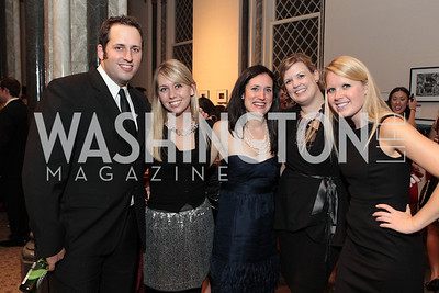 Photo by Alfredo Flores .Brian Edmonson, Jayna Hanson, Beth Sketton, Lizzie Newton, Sarah Hamerstone.  The Smithsonian Young Benefactors 20th Annual Jolly Holiday Party. December 3, 2010.