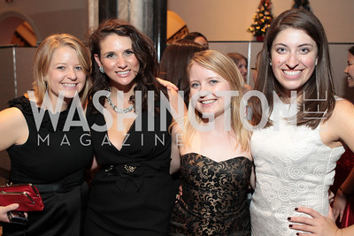 Photo by Alfredo Flores.Lauren Hales, Meredith Sowers, Emily White, Sara Bronnenkant   The Smithsonian Young Benefactors 20th Annual Jolly Holiday Party. December 3, 2010.