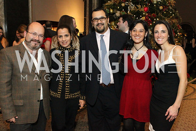 Photo by Alfredo Flores. Eduardo Chaillo, Fabiola Chailko, Enrique Bravo, Monica Vallin, Kate Stilwill. The Smithsonian Young Benefactors 20th Annual Jolly Holiday Party. December 3, 2010.