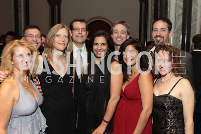 Photo by Alfredo Flores. Melissa Mull, Paul Woburn, Terri Brown, Gree Garrette, Anita Hattingadi, Greg O'Neill, Sunita Joshi. The Smithsonian Young Benefactors 20th Annual Jolly Holiday Party. December 3, 2010.