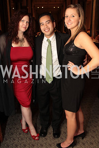 Photo by Alfredo Flores. Melissa Webb, Michelle Adams, Trung Nguyen Dinh. The Smithsonian Young Benefactors 20th Annual Jolly Holiday Party. December 3, 2010.