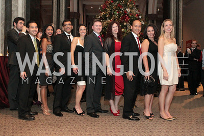 Photo by Alfredo Flores.Trung Nguyen-Dinh, Asha Arraghan, Amar Malik, Kate Stilwill, Chris Byrnes, Michelle Adams, Elias Voces. The Smithsonian Young Benefactors 20th Annual Jolly Holiday Party. December 3, 2010. edit