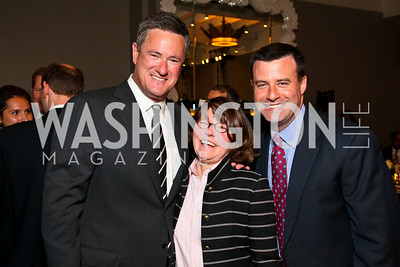 Joe Scarborough, Margaret Carlson, David Shuster. Photo by Tony Powell. The Week's Opinion Awards. W Hotel. April 20, 2010