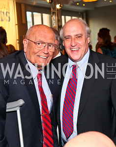 Michigan Congressman John Dingell, Dan Glickman. Photo by Tony Powell. The Week's Opinion Awards. W Hotel. April 20, 2010