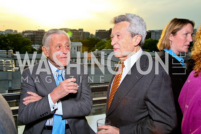 Ben Bradlee, Jerry Rafshoon. Photo by Tony Powell. The Week's Opinion Awards. W Hotel. April 20, 2010