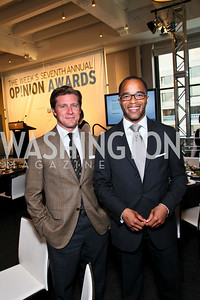 Jake Stafford, Jonathan Capehart. Photo by Tony Powell. The Week's Opinion Awards. W Hotel. April 20, 2010