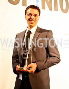 Blogger of the Year Award recipient Ezra Klein. Photo by Tony Powell. The Week's Opinion Awards. W Hotel. April 20, 2010