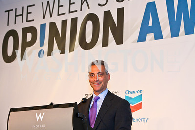 Rahm Emanuel. Photo by Tony Powell. The Week's Opinion Awards. W Hotel. April 20, 2010