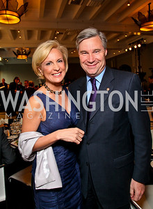 Mika Brzezinski, Rhode Island Senator Sheldon Whitehouse. Photo by Tony Powell. The Week's Opinion Awards. W Hotel. April 20, 2010