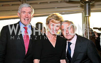 Robert Hormats, Tina Brown, Sir Harold Evans. Photo by Tony Powell. The Week's Opinion Awards. W Hotel. April 20, 2010