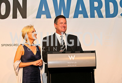 Mika Brzezinski, Joe Scarborough. Photo by Tony Powell. The Week's Opinion Awards. W Hotel. April 20, 2010