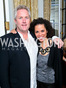 Andrew Breitbart, Amy Holmes. Photo by Tony Powell. Young and the Guestlist. Washington Club. April 15, 2010