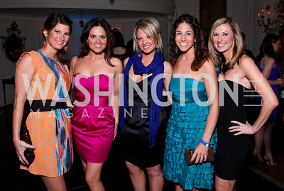 Carrie Cox, Natalie Cantley, Alexandra Gardner, Chrissy Limetti, Tricia Favro. Photo by Tony Powell. Young and the Guestlist. Washington Club. April 15, 2010