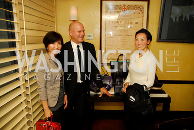 Cindy Kim, John Truex, Jany Dor, Tiffany Luncheon at Cafe Milano, October 29, 2010, Kyle Samperton