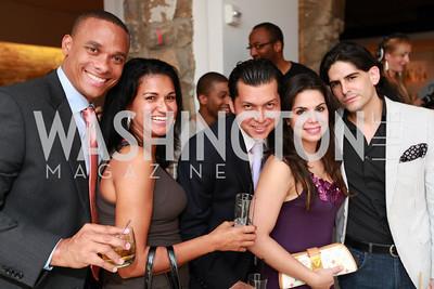 Carolina Rodriguez, Rafael Polonia, David Pardini, Angelique Velez, Jorge Caceres. Tim Coburn Fashion Photography Showing at L2. Photo by Alfredo Flores
