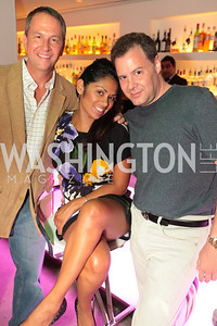 Ed Morgan, Nancy Caracas, RIck Holzer. Tim Coburn Fashion Photography Showing at L2. Photo by Alfredo Flores