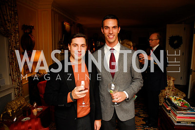 Mike Gottlieb, Ari Shapiro. Tobin Book Party. December 15, 2009. Photo by Kyle Samperton