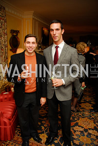 Mike Gottlieb, Ari Shapiro. Tobin Book Party. December 15, 2009. Photo by Kyle Samperton.
