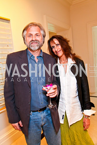 Ken Grossinger, painter Micheline Klagsbrun. Photo by Tony Powell. Transformer's Collector's View #2. The home of Robert and Aimee Lehrman. April 22, 2010