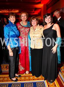 Photo by Tony Powell. Sheila Casey, Mary Jo Myers, Brenda and Tracy Linnington. USO Gala. Marriott Wardman Park Hotel. October 7, 2010