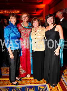 Photo by Tony Powell. Sheila Casey, Mary Jo Myers, Brenda and Tracy Linnington. USO Gala. Marriott Wardman Park Hotel. October 7, 2010