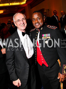 Photo by Tony Powell. Gordon England, Gen. Willie Williams. USO Gala. Marriott Wardman Park Hotel. October 7, 2010