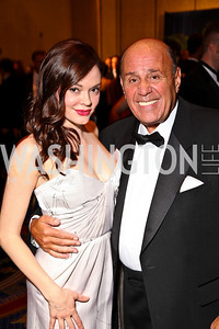 Photo by Tony Powell. Rose McGowan, ATG Chairman Raymond Caldiero. USO Gala. Marriott Wardman Park Hotel. October 7, 2010