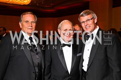 Photo by Tony Powell. Jay Kimmitt, Senator Carl Levin, Charles Szews. USO Gala. Marriott Wardman Park Hotel. October 7, 2010