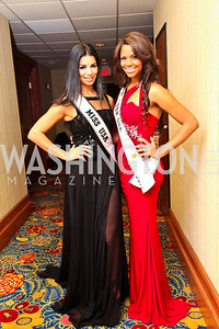 Photo by Tony Powell. Miss USA Rima Fakih, Miss Teen USA Kamie Crawford. USO Gala. Marriott Wardman Park Hotel. October 7, 2010