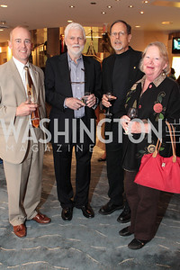 Christopher Browne Geoffrey Horne Marc Leepson Janna Leepson. Photo by Alfredo Flores. USO cocktail reception and screening of The Bridge on the River Kwai