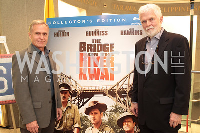 Grover Cusp Elaine Rogers Geoffrey Horne. Photo by Alfredo Flores. USO cocktail reception and screening of The Bridge on the River Kwai.  2095