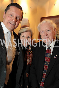 Bill Chatfield Georgia Jones John Cosgrove. Photo by Alfredo Flores. USO cocktail reception and screening of The Bridge on the River Kwai