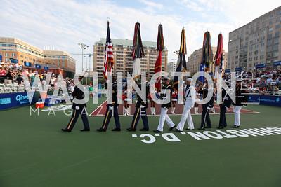 Photo by Alfredo Flores. VIP Reception with Anna Kournikova at Washington Kastles Stadium.