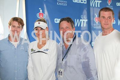 Anna Kournikova, John Arundel. Photo by Alfredo Flores. VIP Reception with Anna Kournikova at Washington Kastles Stadium.