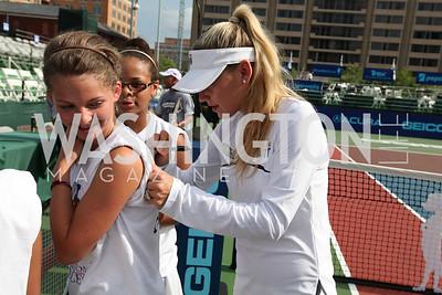 Anna Kournikova. Photo by Alfredo Flores. VIP Reception with Anna Kournikova at Washington Kastles Stadium.