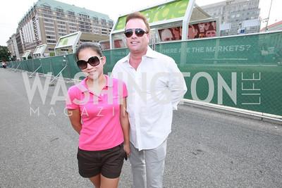 Donna Lee, Chris Thompson. Photo by Alfredo Flores. VIP Reception with Anna Kournikova at Washington Kastles Stadium.