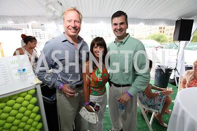 Larry Stack Stephanie Stack Dan Onorato. Photo by Alfredo Flores. VIP Reception with Anna Kournikova at Washington Kastles Stadium.