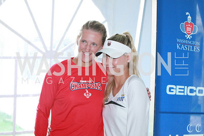 Victoria Azarenka, Anna Kournikova. Photo by Alfredo Flores. VIP Reception with Anna Kournikova at Washington Kastles Stadium.