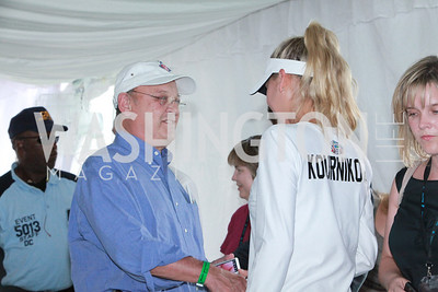 Anna Kournikova. Photo by Alfredo Flores. VIP Reception with Anna Kournikova at Washington Kastles Stadium.