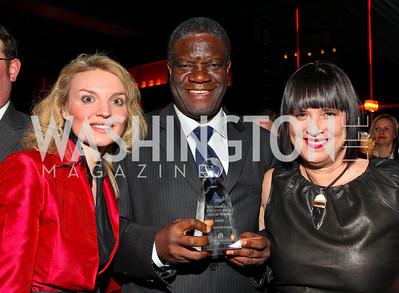 Alyse Nelson, Awardee Dr. Denis Mukwege, Eve Ensler.