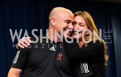Photo by Tony Powell. Andre Agassi, Steffi Graf. WTT VIP Reception with Elton John. Bender Arena. November 15, 2010