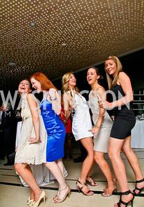Sara Lange, Jessie Cochran, Kate Neff, Katherine Potosky, Allison Sarmuksnis. Photo by Tony Powell. 2010 Jete Society Dance Party. House of Sweden. April 23, 2010